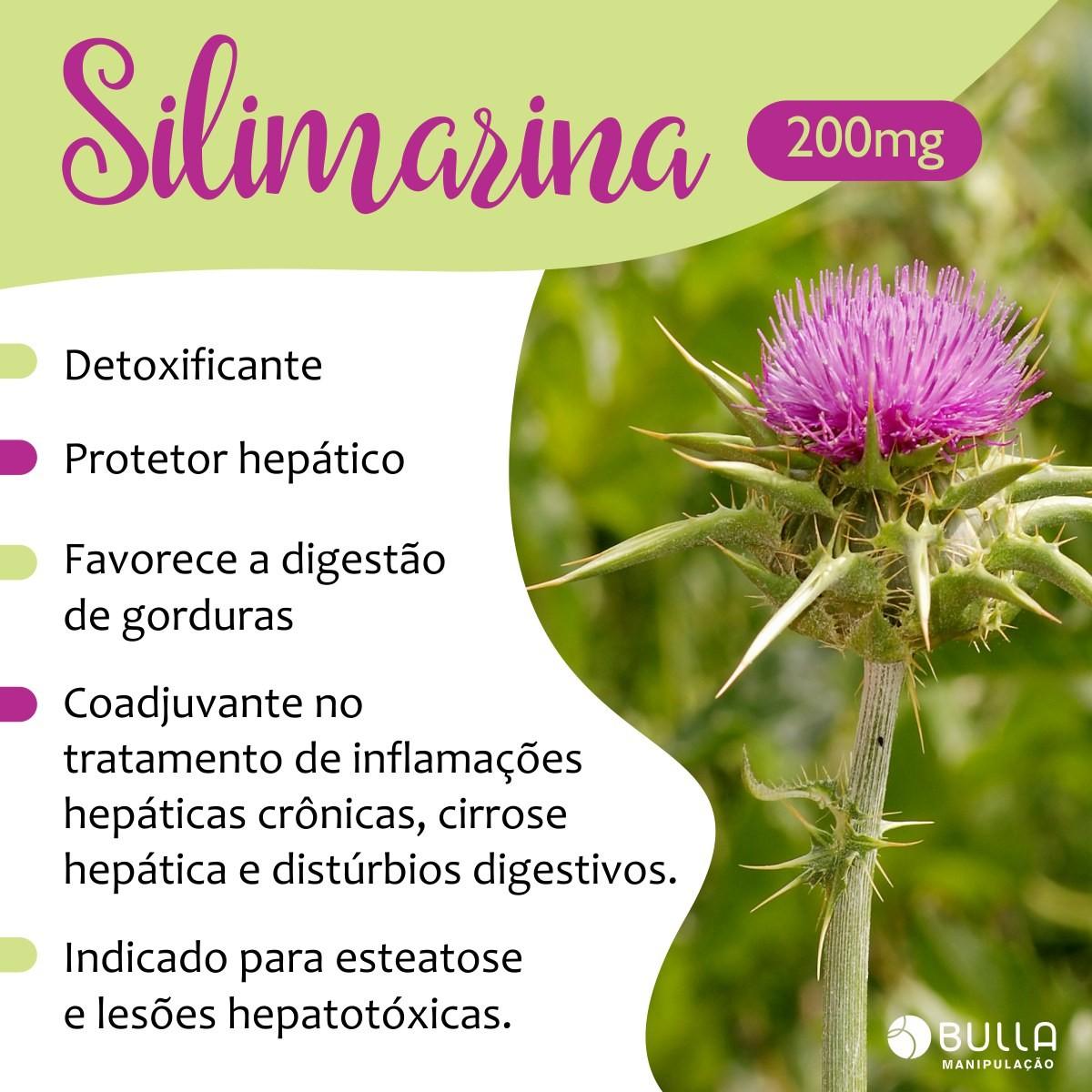 Silimarina 200mg - 60 cápsulas   - Bulla Farmácia de Manipulação