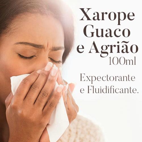 Xarope Guaco e Agrião - 100 ml   - Bulla Farmácia de Manipulação