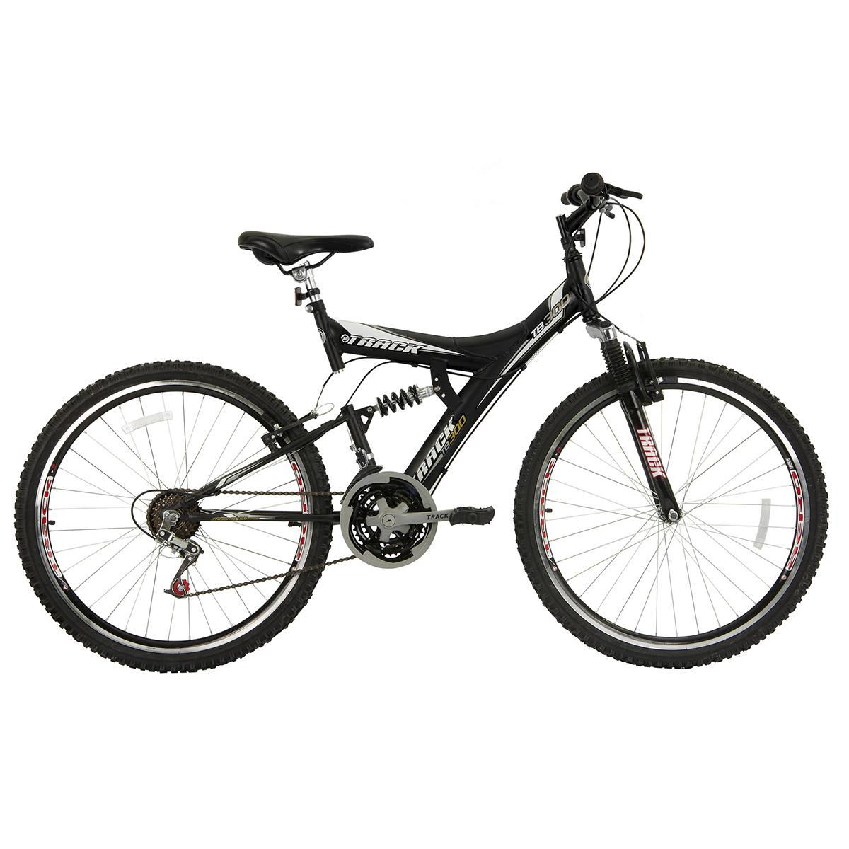 Bicicleta Track & Bikes Aro 26 TB 300XS Suspensão Dupla 18 Velocidades