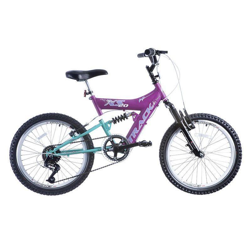 Bicicleta Track & Bikes Aro 20 XS 20 6 Velocidades Dupla Suspensão