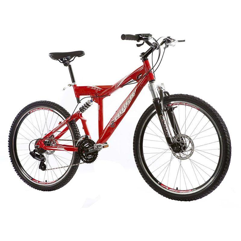 Bicicleta Track & Bikes Aro 26 Alumínio Full Suspensão 21V Vermelho XK FULL 5.0 R
