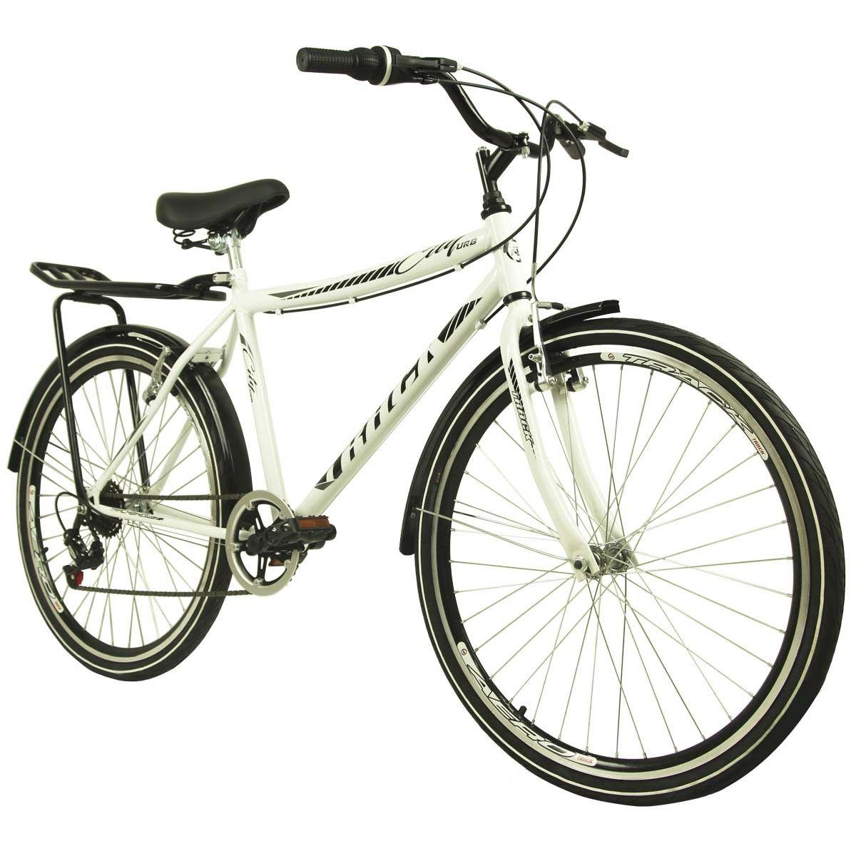 Bicicleta Track & Bikes Aro 26 City Urb Branca
