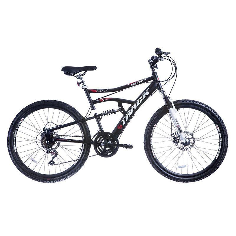 Bicicleta Track & Bikes Aro 26 TB 500 Suspensão Dupla 21 Velocidades Disk Brake