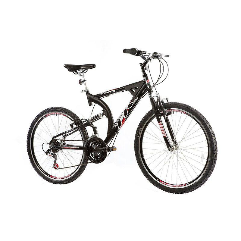 Bicicleta Track & Bikes Aro 26 XK 400 21 Marchas Full Suspensão Quadro Alumínio