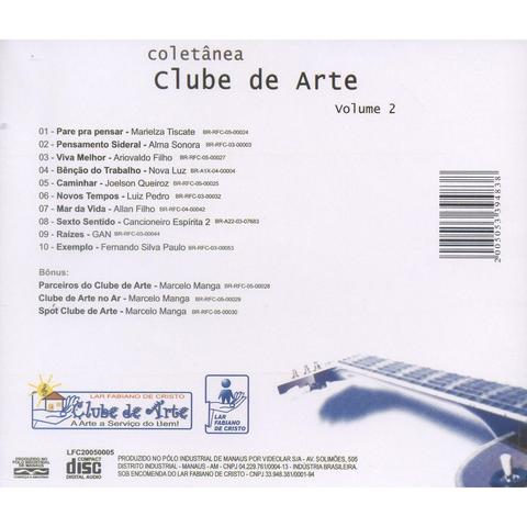 CD - Coletânea Clube de Arte - Vol 2