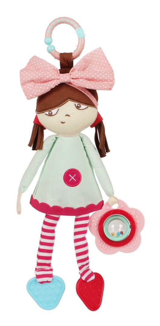 Mami   Beby Boneca de Pano com Chocalho e Mordedor - Trendy Baby 8f4be8a183