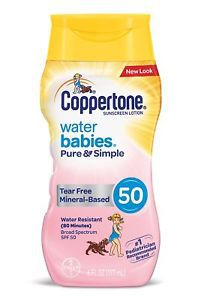 b48d788a9 Protetor Solar Water Babies Pure   Simple Coppertone 50 - Trendy Baby