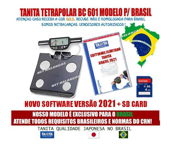 Balança De Bioimpedância Bc 601 FS 2021 Tanita C/ Software Ilimitado 2021 & SD Card Bc601 Lançamento
