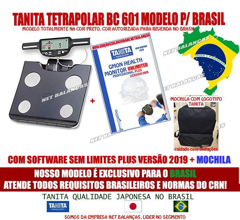 Balança De Bioimpedância Bc 601 FS 2020 Tanita C/ Software Ilimitado 2020 +SD CARD+ Mochila Original Bc601