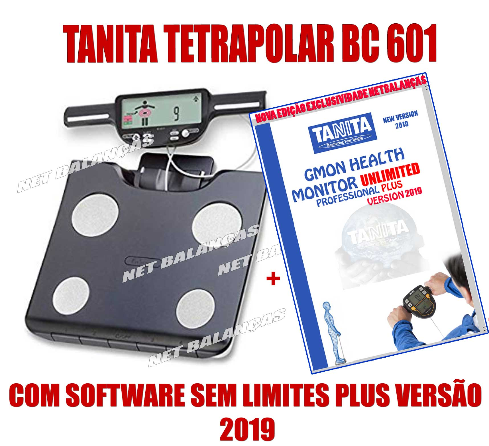 TANITA BC 601 com software Ilimitado