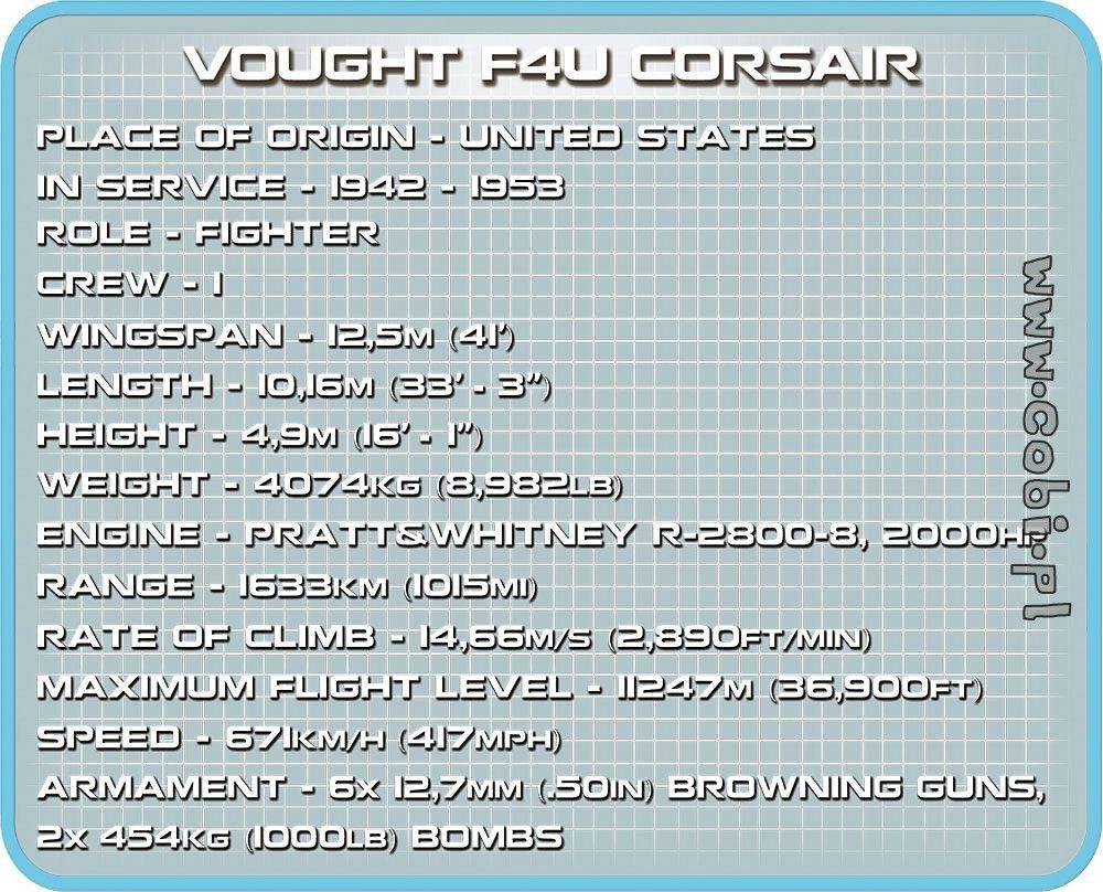 AVIAO MILITAR VOUGHT F4U CORSAIR BLOCOS PARA MONTAR COM 245 PCS