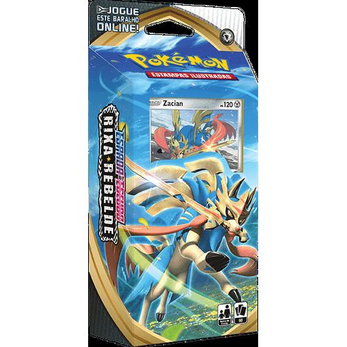 Starter Deck Pokémon Zacian Espada e Escudo 2 Rixa Rebelde