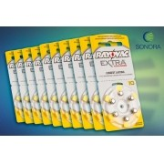 Rayovac 10 / PR70 - 10 Cartelas - 60 Baterias para Aparelho Auditivo