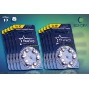 Starkey S10 / PR70 - 10 Cartelas - 60 Baterias para Aparelho Auditivo