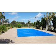 Capa de piscina 340 micras 5x2,7 Lona Forte Polietileno de Facil Manuseio