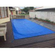 Capa de Piscina 4,3x3,6 Lona Forte 340 Micras Azul