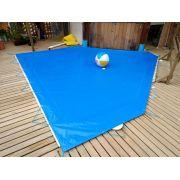 Capa de piscina lona forte 5,3x3,2 kit completo p Instalação