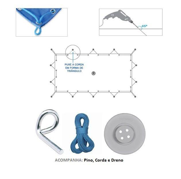 Capa de Piscina 2X1 LONA FORTE - Protecao Kit Completo p Instalação  - Atacadopp - Fabrica de Capas de Piscina