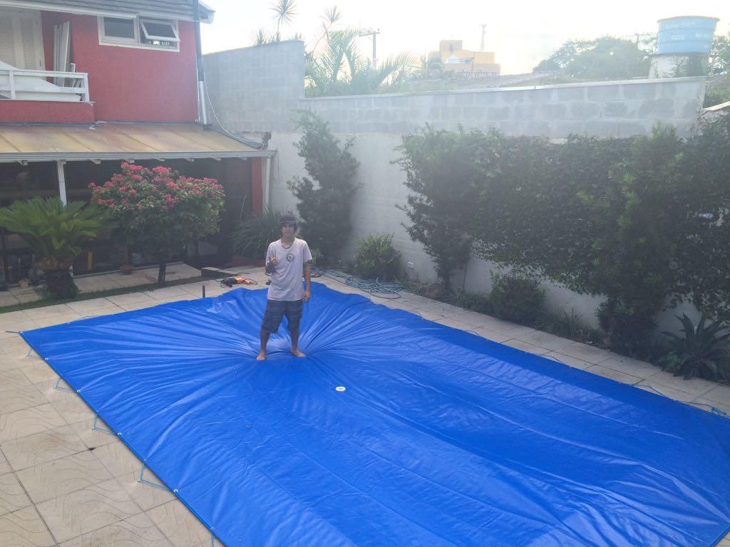 Capa para piscina 4 5x3 lona forte prote o fabrica de for Lona termica piscina