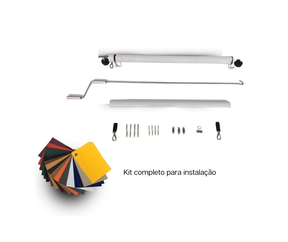 Toldo Cortina Retrátil - Lona com Visor 2,35x2,20  - Atacadopp - Fabrica de Capas de Piscina