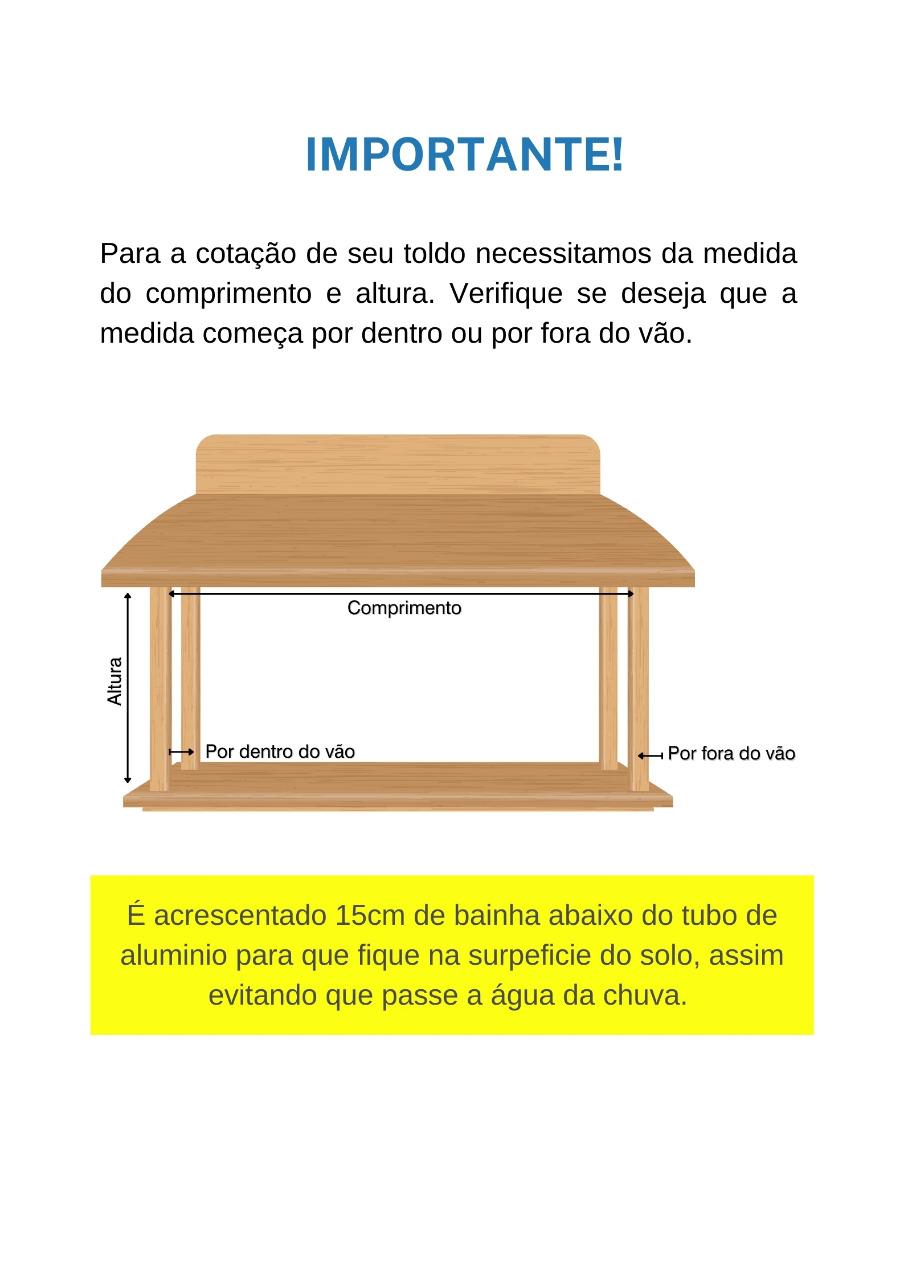 Toldo Cortina Retrátil - Lona Com Visor 2x2  - Atacadopp - Fabrica de Capas de Piscina