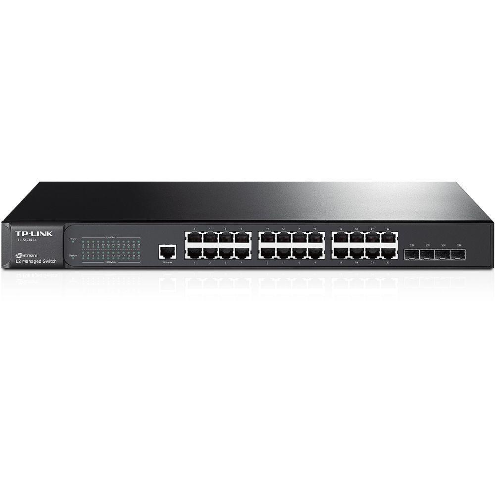 Switch 24 Portas 10/100/1000 E 4 Sfp Tl-sg3424 - Tp-link