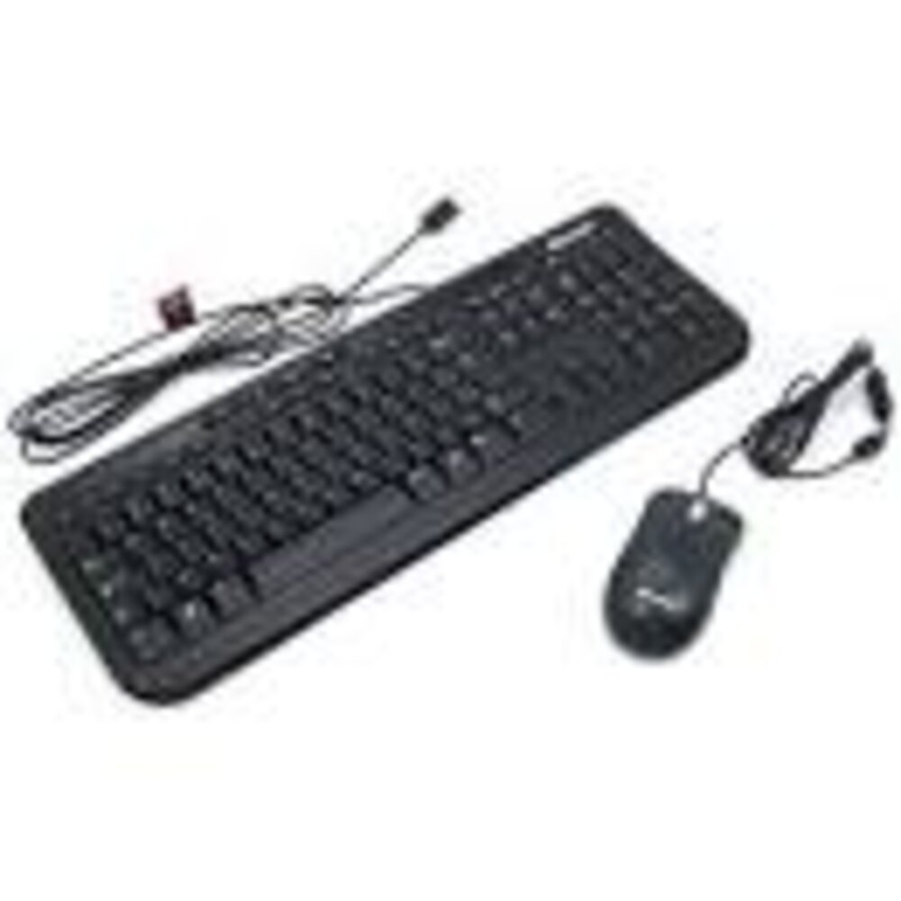 Teclado e Mouse - USB - Microsoft Wired Desktop 600 - Preto - APB-00005 / 1576 1113