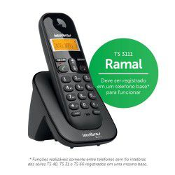 Telefone Sem Fio Intelbras Ts 3111 - Ramal