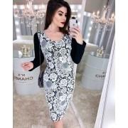 Vestido Sabina Manga Longa