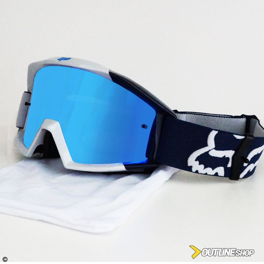 Óculos Fox Main Mastar Navy   Lente Mirror Blue - Outline Downhill Shop 0433785281