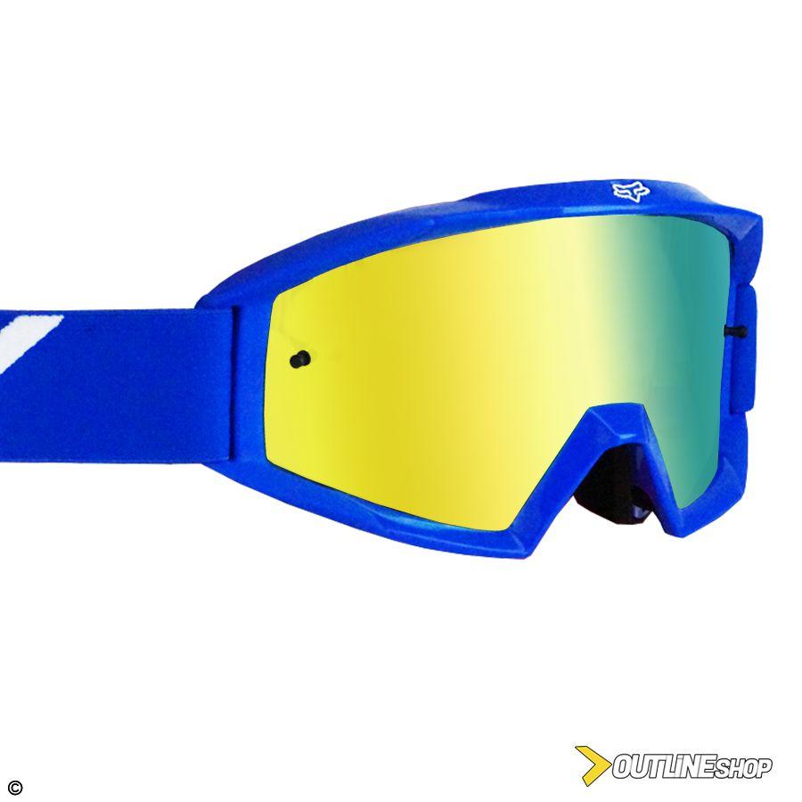 Óculos Fox Main Race Black   Lente Mirror Silver - Outline Downhill Shop 7bf4a1c914