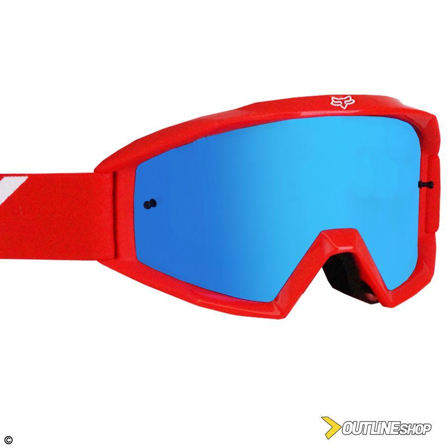 Óculos Fox Main Race Red   Lente Mirror Blue - Outline Downhill Shop 1158f91cf7
