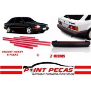 Kit Jogo Friso Lateral + Friso Parachoque Escort XR3