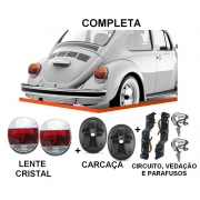 PAR DE LANTERNA FUSCA VW 1500 79/ FAFA COM SOQUETE - CRISTAL