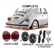 PAR DE LANTERNA FUSCA VW 1500 79/ FAFA COM SOQUETE - FUME