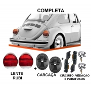 PAR DE LANTERNA FUSCA VW 1500 79/ FAFA COM SOQUETE - RUBI BICOLOR