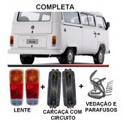 PAR DE LANTERNA KOMBI CLIPPER C/SOQUETE - AMBAR TRICOLOR