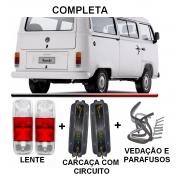 PAR DE LANTERNA KOMBI CLIPPER C/SOQUETE - CRISTAL