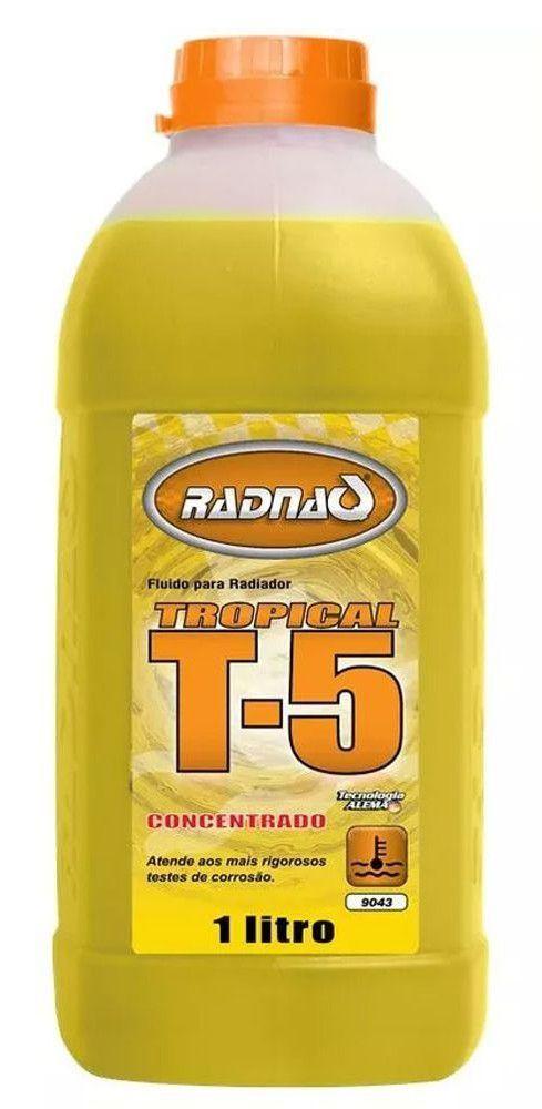 "Aditivo P/ Radiador Conc. ""Amarelo"" T5 Tropical (1000 Ml) Radnaq"
