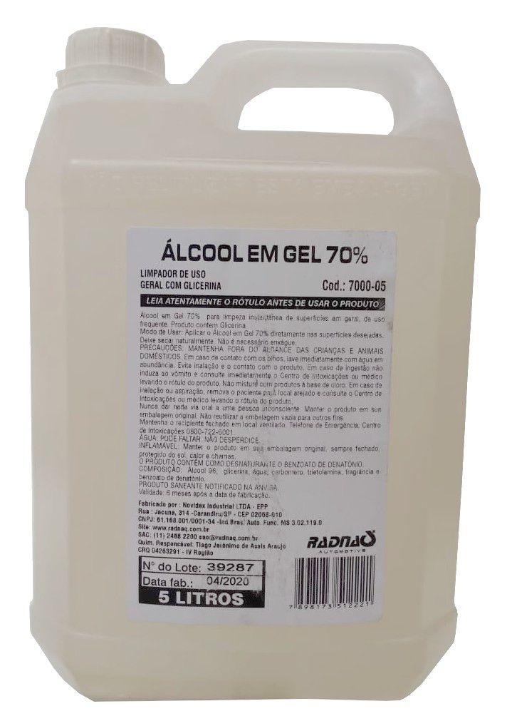 Alcool Gel 70% (5Lt) Radnaq