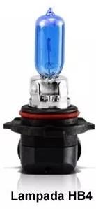 Par Lâmpada Super Brancas 9006 Hb4 12V 55W 8500K Efeito Xênon