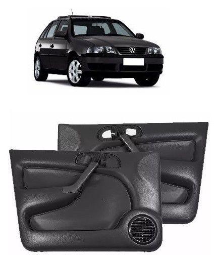 Forro Porta Fiesta 4 Pts Manual 1996 à 2001 Com Tela Dianteiro - Cinza