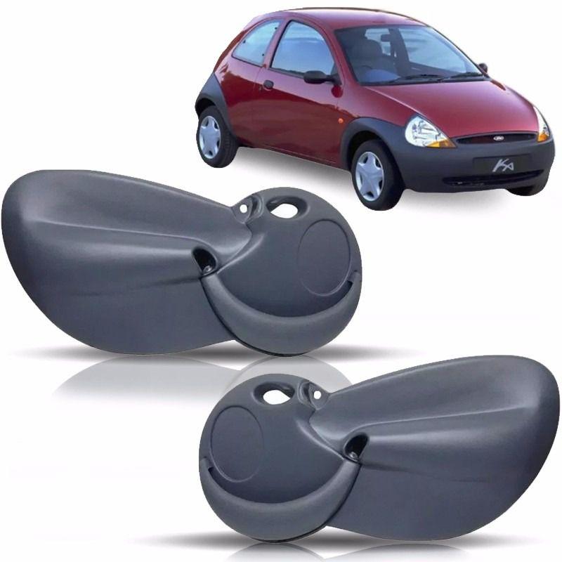 Forro Porta Ford Ka 1997 à 2007 Manual Ou Elétrico Com Tela Dianteiro - Preto