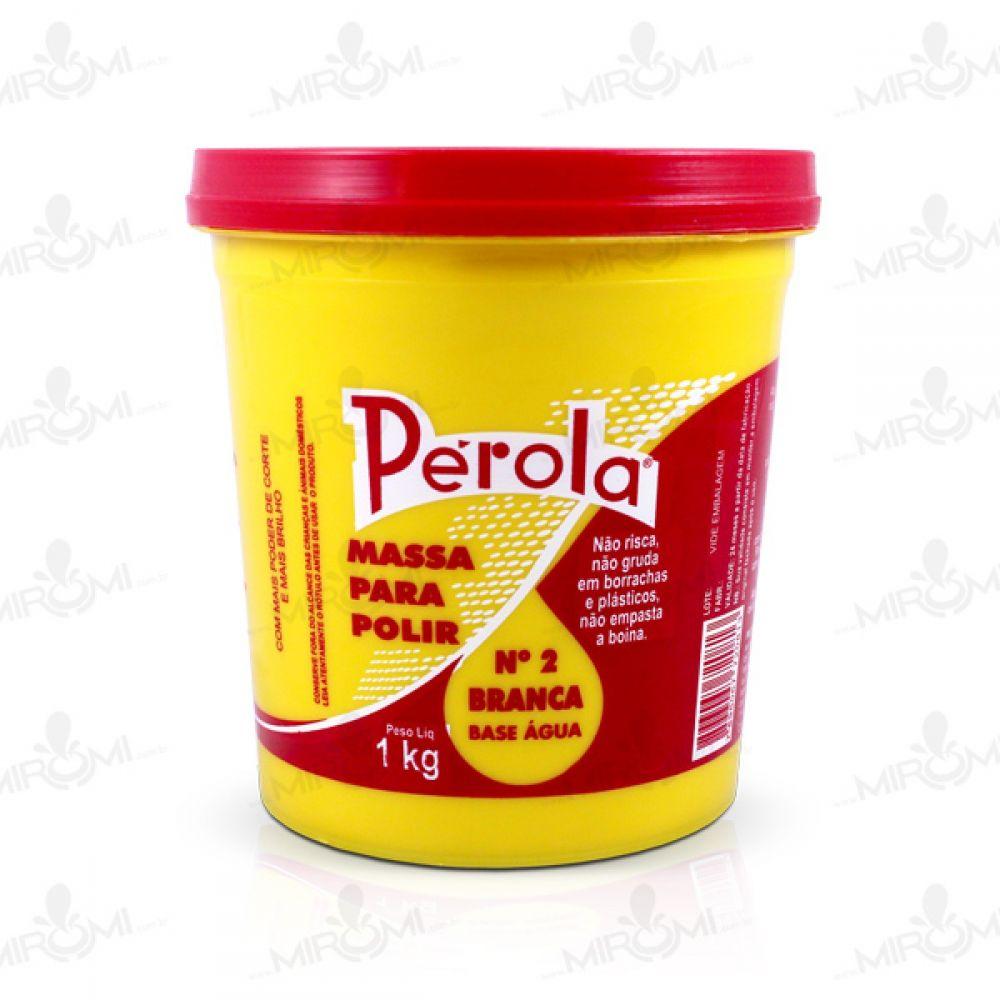 Massa P/ Polir Nº 2 - B. Água (1Kg) Pérola