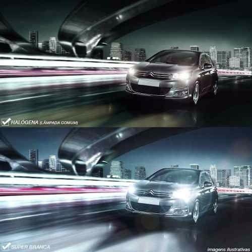 Par Lâmpada Super Brancas H16 12V 55W 8500K Efeito Xênon