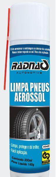 Pneu Pretinho Spray (300 Ml) Radnaq