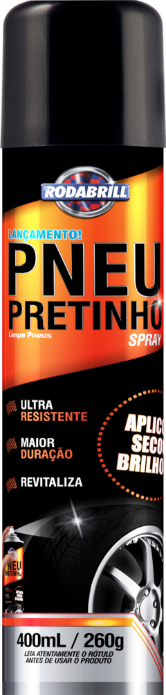 Pneu Pretinho Spray (400 Ml) Rodabrill