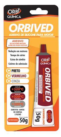 Silicone Vermelho De Alta Temperatura 50 Gr Orbi Química