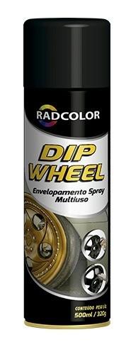 """Tinta Para Envelopamento Liquido Spray DIP WHEEL Radnaq 500ml """"GRAFITE"""""""