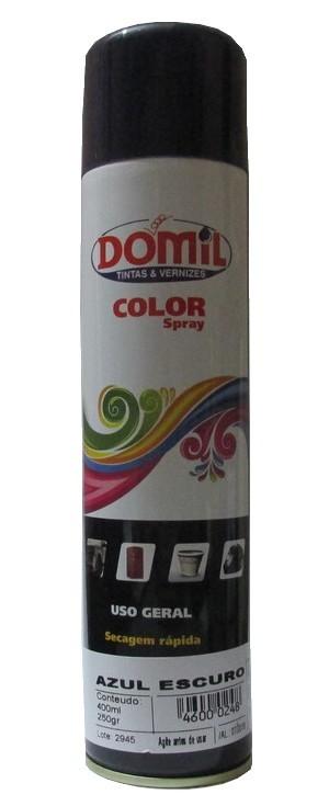 Tinta Spray - Azul Escuro - Uso Geral (400 ml) Domil